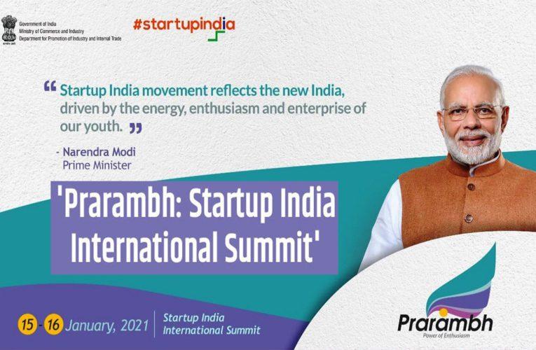 Startup India International Summit (Prarambh): Important Points