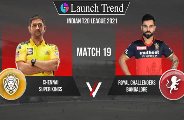 IPL 2021 CSK vs RCB: CSK Won By 69 Runs