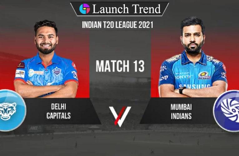 IPL 2021 DC vs MI: DC Won By 6 Wickets